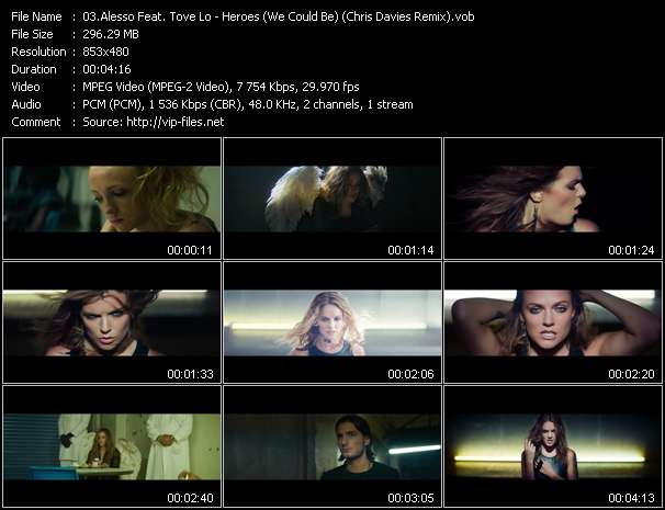 Screenshot of Music Video Alesso Feat. Tove Lo - Heroes (We Could Be) (Chris Davies Remix)