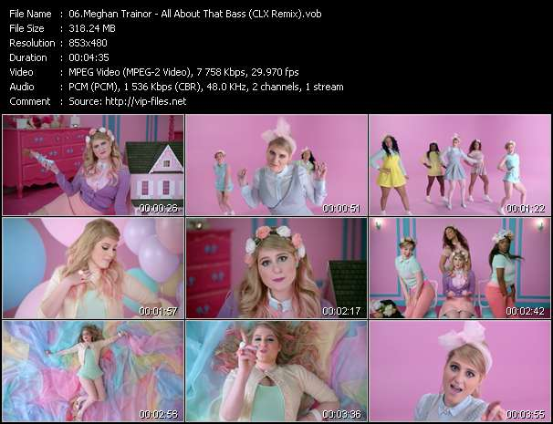 Screenshot of Music Video Meghan Trainor - All About That Bass (CLX Remix)