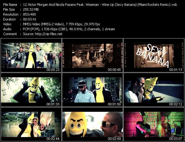 Screenshot of Music Video Victor Morgan And Nicola Fasano Feat. Wiseman - Wine Up (Sexy Banana) (Miami Rockets Remix)