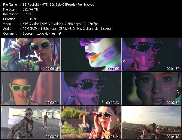 Screenshot of Music Video Redlight - 9TS (90s Baby) (Freejak Remix)