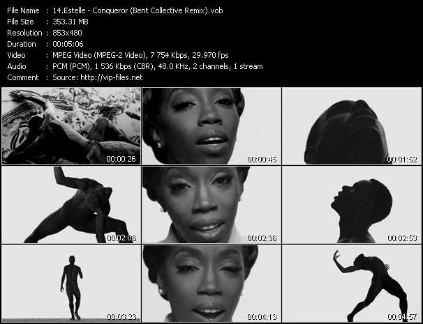 Screenshot of Music Video Estelle - Conqueror (Bent Collective Remix)