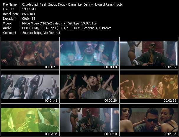 Screenshot of Music Video Afrojack Feat. Snoop Dogg - Dynamite (Danny Howard Remix)