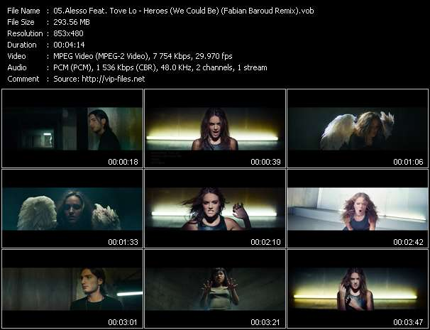 Screenshot of Music Video Alesso Feat. Tove Lo - Heroes (We Could Be) (Fabian Baroud Remix)