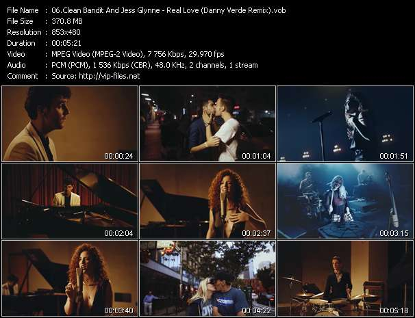 Screenshot of Music Video Clean Bandit And Jess Glynne - Real Love (Danny Verde Remix)