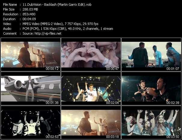 Screenshot of Music Video DubVision - Backlash (Martin Garrix Edit)