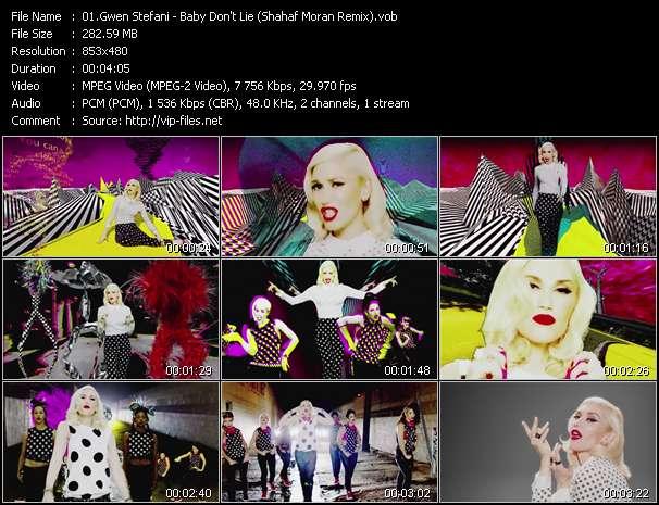Screenshot of Music Video Gwen Stefani - Baby Don't Lie (Shahaf Moran Remix)