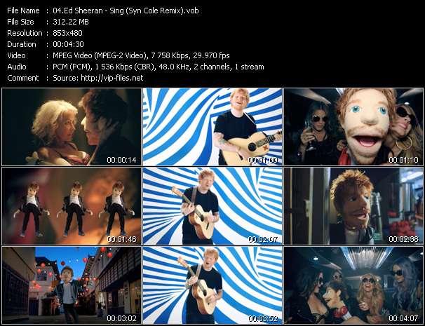 Screenshot of Music Video Ed Sheeran - Sing (Syn Cole Remix)