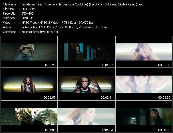 Screenshot of Music Video Alesso Feat. Tove Lo - Heroes (We Could Be) (Hard Rock Sofa And Skidka Remix)