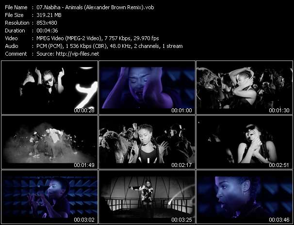 Screenshot of Music Video Nabiha - Animals (Alexander Brown Remix)