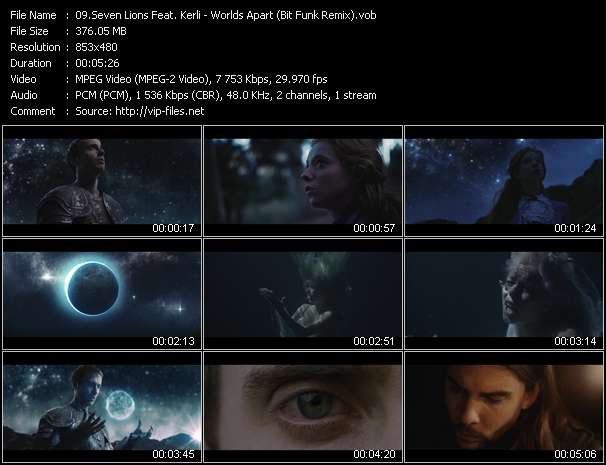 Screenshot of Music Video Seven Lions Feat. Kerli - Worlds Apart (Bit Funk Remix)