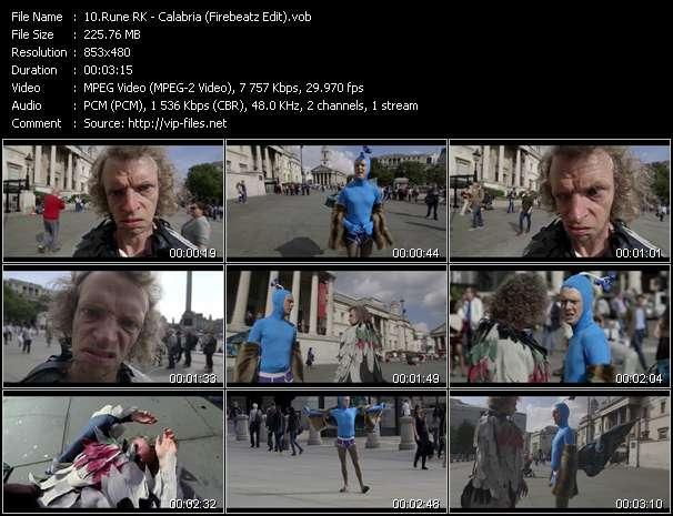 Screenshot of Music Video Rune RK - Calabria (Firebeatz Edit)