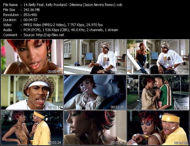 Screenshot of Music Video Nelly Feat. Kelly Rowland - Dilemma (Jason Nevins Remix)
