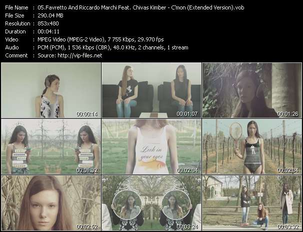 Favretto And Riccardo Marchi Feat. Chivas Kimber video vob