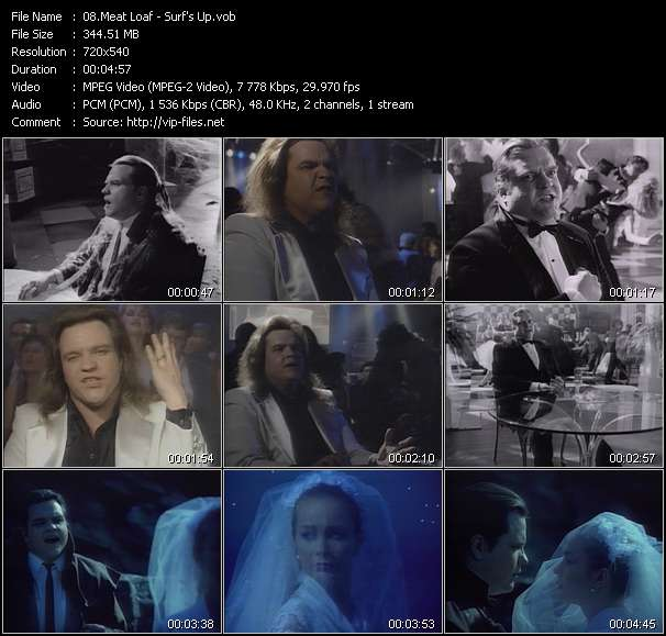Screenshot of Music Video Meat Loaf - Surf's Up
