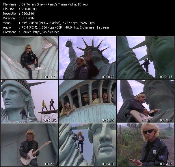 Screenshot of Music Video Tommy Shaw - Remo's Theme (What If)