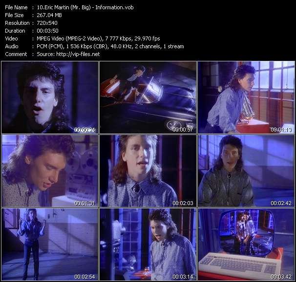 Screenshot of Music Video Eric Martin (Mr. Big) - Information
