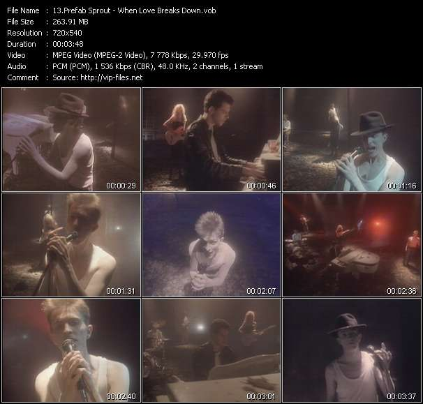 Screenshot of Music Video Prefab Sprout - When Love Breaks Down