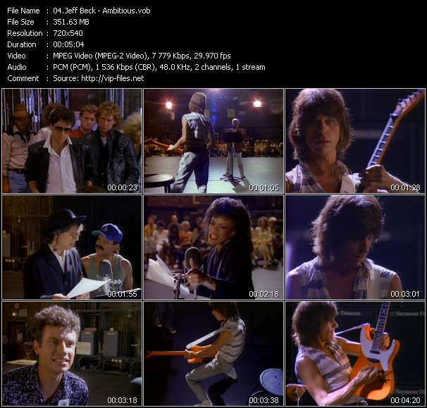 Jeff Beck video vob