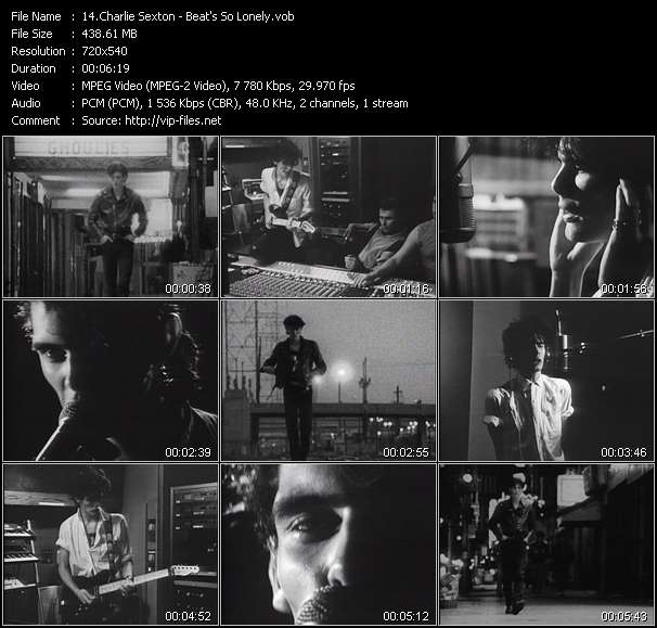 Screenshot of Music Video Charlie Sexton - Beat's So Lonely