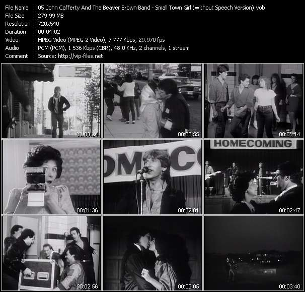 Screenshot of Music Video John Cafferty And The Beaver Brown Band - Small Town Girl (Without Speech Version)