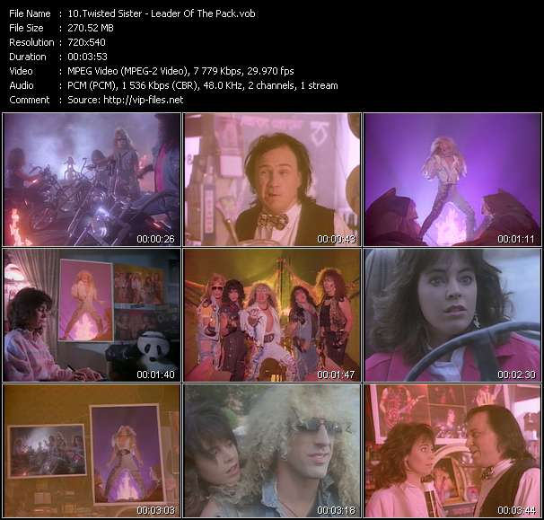 Twisted Sister video vob