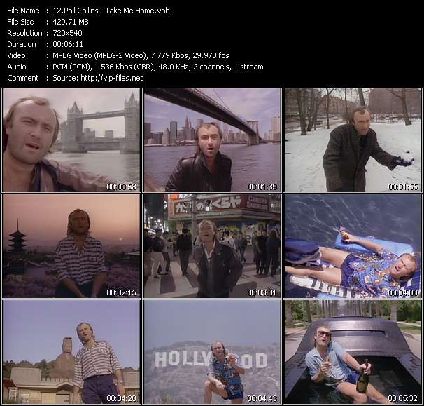 Screenshot of Music Video Phil Collins - Take Me Home