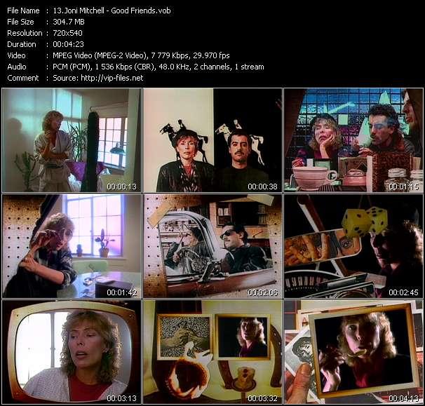 Screenshot of Music Video Joni Mitchell - Good Friends
