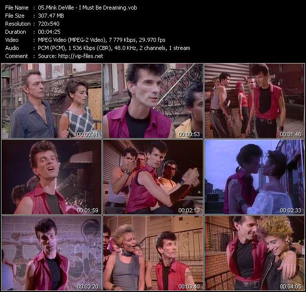 Screenshot of Music Video Mink DeVille - I Must Be Dreaming