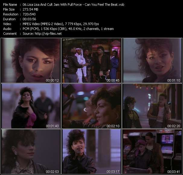 Screenshot of Music Video Lisa Lisa And Cult Jam With Full Force - Can You Feel The Beat