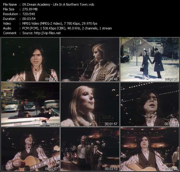Screenshot of Music Video Dream Academy - Life In A Northern Town