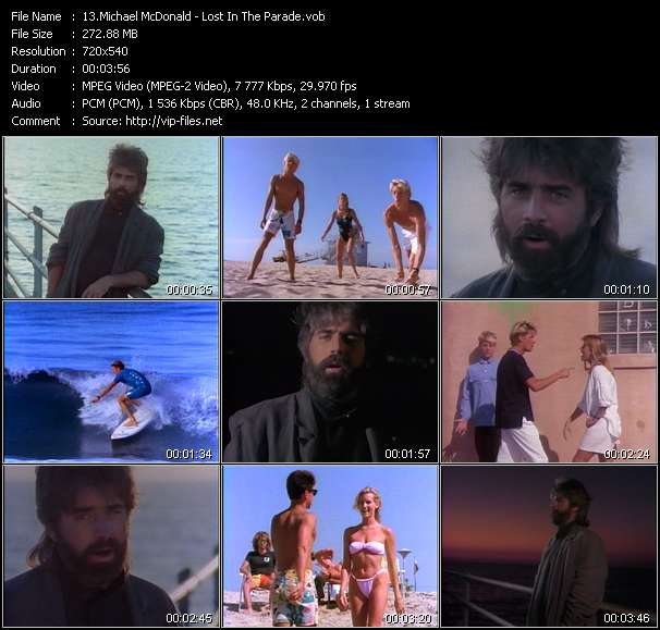 Screenshot of Music Video Michael McDonald - Lost In The Parade