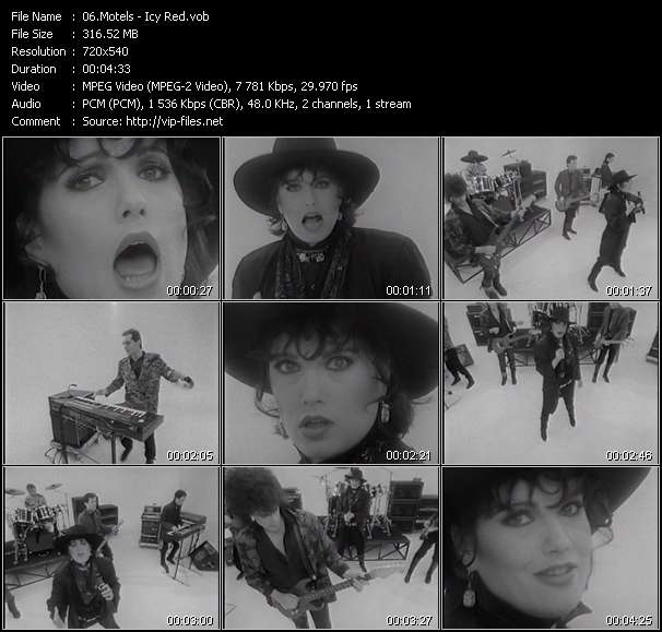 Screenshot of Music Video Motels - Icy Red