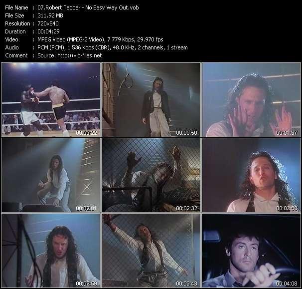 Screenshot of Music Video Robert Tepper - No Easy Way Out
