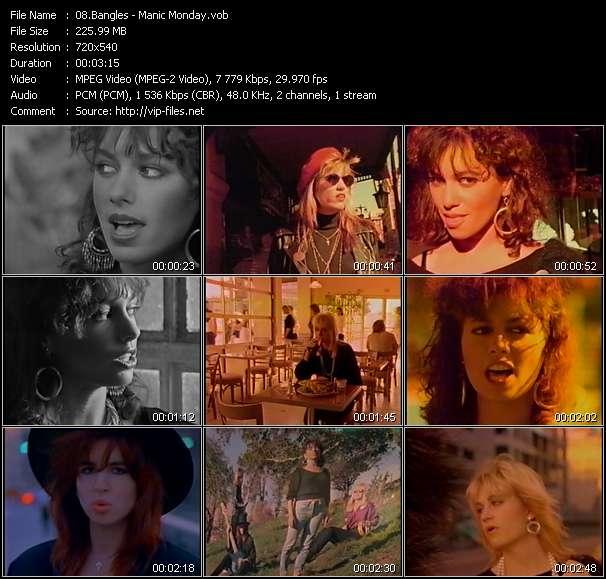 Screenshot of Music Video Bangles - Manic Monday