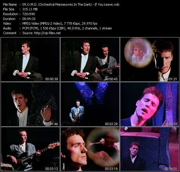 Screenshot of Music Video O.M.D. (Orchestral Manoeuvres In The Dark) - If You Leave