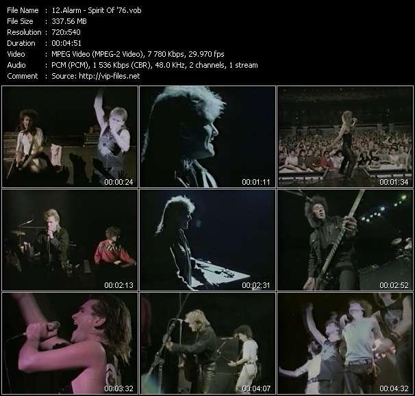 Screenshot of Music Video Alarm - Spirit Of '76