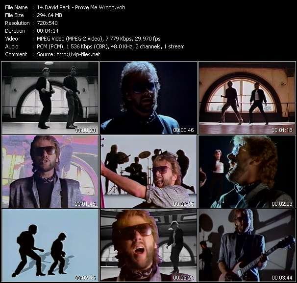 Screenshot of Music Video David Pack - Prove Me Wrong