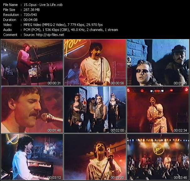 Screenshot of Music Video Opus - Live Is Life