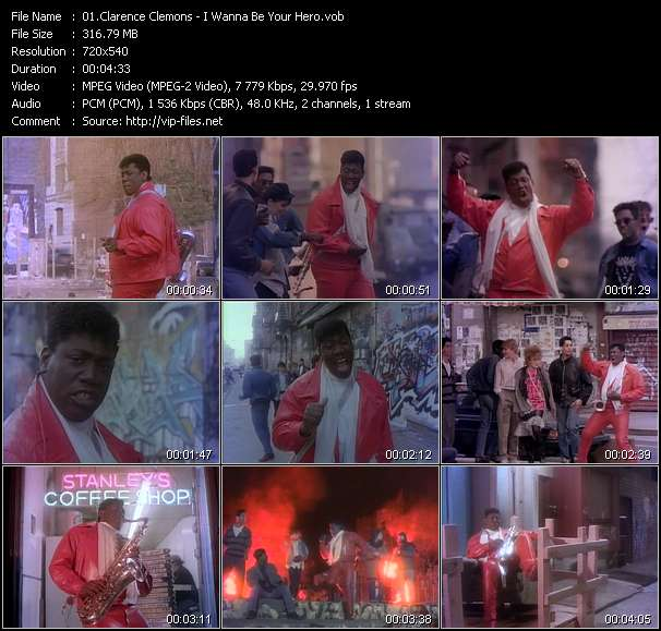 Clarence Clemons video vob