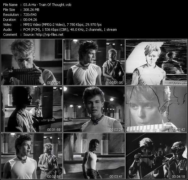 Screenshot of Music Video A-Ha - Train Of Thought