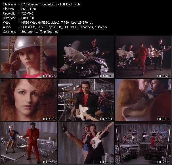 Screenshot of Music Video Fabulous Thunderbirds - Tuff Enuff