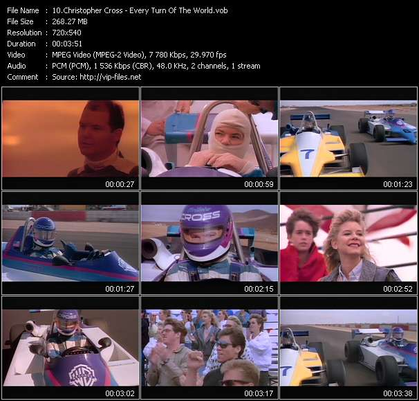 Screenshot of Music Video Christopher Cross - Every Turn Of The World