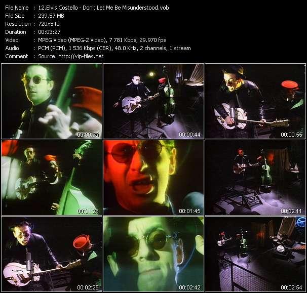Elvis Costello clips musicaux vob