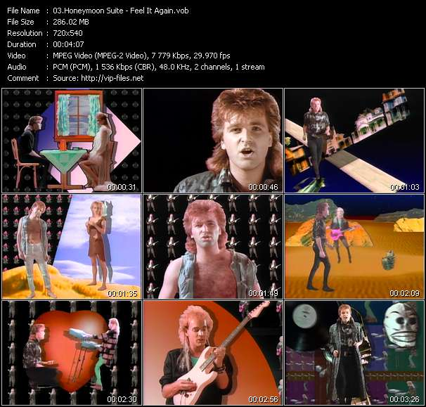 Screenshot of Music Video Honeymoon Suite - Feel It Again