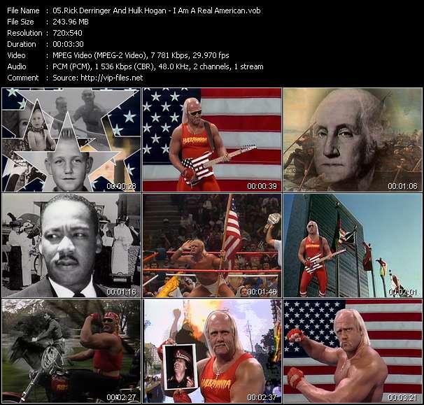 Screenshot of Music Video Rick Derringer And Hulk Hogan - I Am A Real American