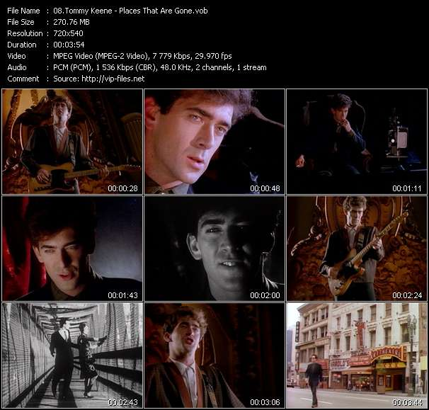 Screenshot of Music Video Tommy Keene - Places That Are Gone