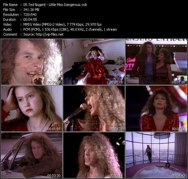 Screenshot of Music Video Ted Nugent - Little Miss Dangerous