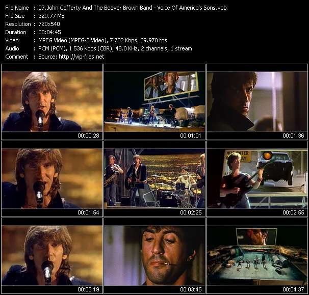 Screenshot of Music Video John Cafferty And The Beaver Brown Band - Voice Of America's Sons