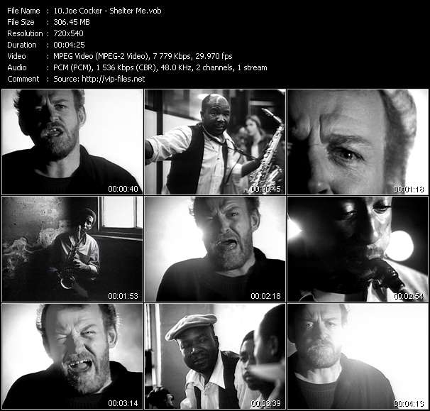 Screenshot of Music Video Joe Cocker - Shelter Me
