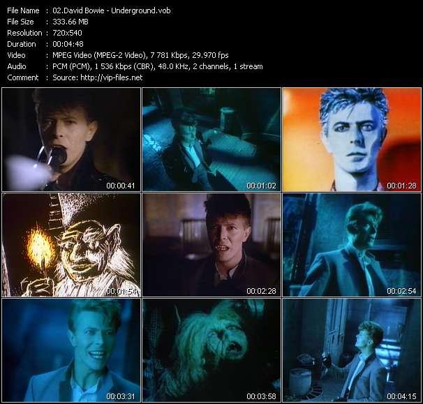Screenshot of Music Video David Bowie - Underground